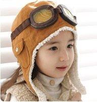 2014 Winter baby earflap,Pilot cap, children hats boys, flight caps, infant hat Free Shipping, SJY204