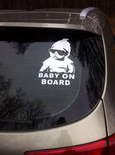 2PCS/LOT Reflective Car Styling BABY ON BOARD Warming Car Sticker Motorcycle Sticker(China (Mainland))