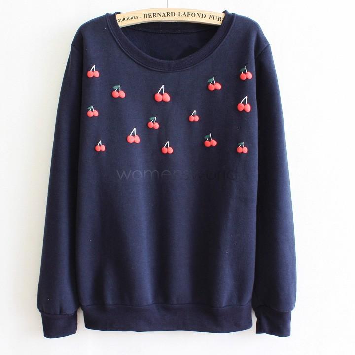 [해외]2014 가을  , 스포츠 정장 여성 후드 스웨터 겉옷 체리 (50)를..