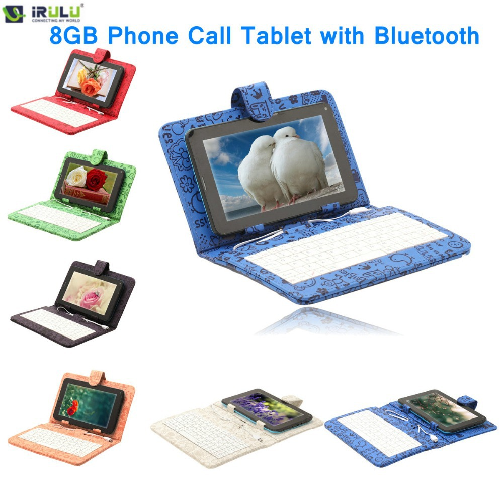 """IRULU Phablet eXpro X2c 7"""" Phone Call Tablet PC 8GB 2G Phablet Android 4.2 Dual SIM Bluetooth Phone Pad with Keyboard Case 2014(China (Mainland))"""