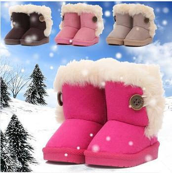 2015 зимой дети сапоги толстые теплые ботинки хлопка мягкой замши пряжки мальчики девочки сапоги мальчики снег сапоги детская одежда обувь ес 20-32