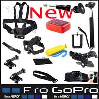 Sj5000 4000 Gopro Accessories Set Hero 3 2 Wrist Harness Chest Belt Head Mount Strap For Go pro hero3 Hero2 Sj6000 Black Edition