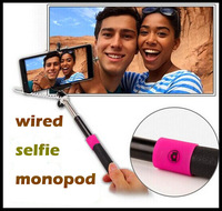 free Shipping! New Selfien Monopod Telescopic Handheld Pole Stick with Cable Universal for your phones