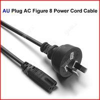 ( 100 pcs/lot ) AU Plug AC Figure 8 Power Cord Cable 1.2m 4FT For Battery Charger AC Power Adapter Laptop Wholesale