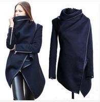 H1-v10 Thin Thin coat ,not thick,HOT Free Shipping 2014 autumn woolen overcoat women fashion trench woolen thin coat