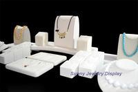 Beige Color Jewelry Display Showcase Jewelry Props Display Rack Accessories Display Rack Set Pendants&Neckalce Stand Holder