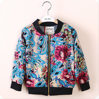 Boutiques Clothes Boy's Jacket:Cotton Flowers Printed Baby Kids Fall Jackets Children Outerwear Casual Child Boy Sports Jacket
