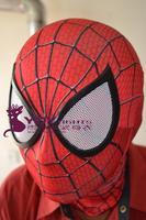 2015 Moda The Amazing SpiderMan Fabric Adult Costume Mask lenses lens one size adjust