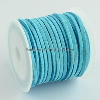 Faux Suede Cord, PaleTurquoise, 3x1.5mm; about 5m/roll, 25rolls/bag