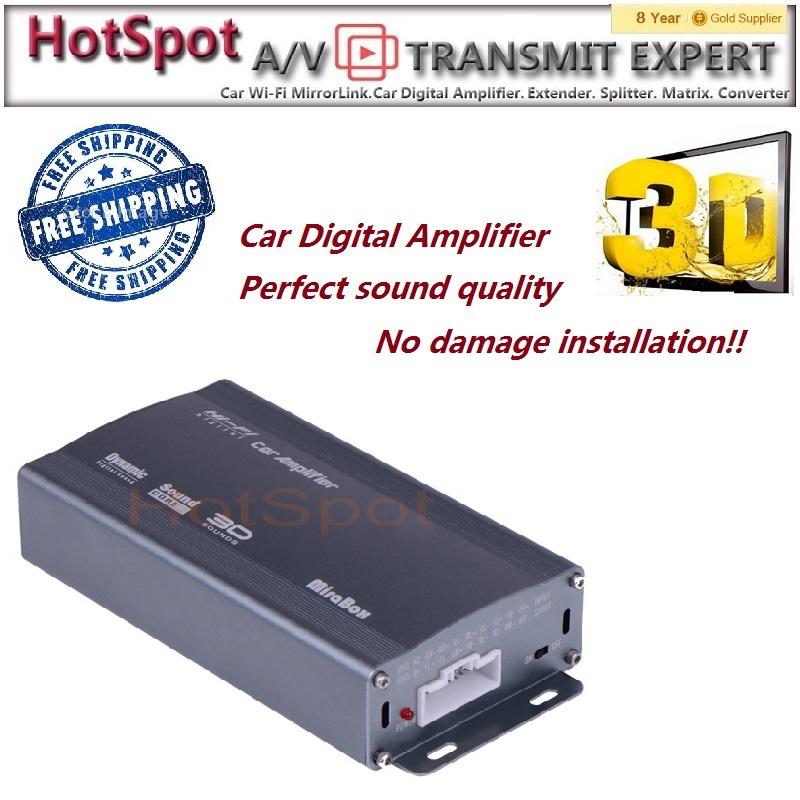 car amplifier free shipping! Harmless installationii 3D class-D digital car amplifier(China (Mainland))