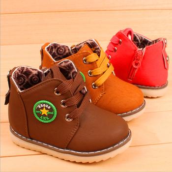 Размер 21-30 новый 2014 зима теплая дети сапоги мода плюс бархат мальчики обувь для девочек дети снегоступы