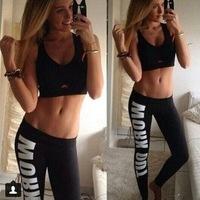 2014 New Fashion punk rock Plus size Leggings Women Pencil Fitness Workout STATEMENT Blogger Alphabet print Sweat Pant sportwear