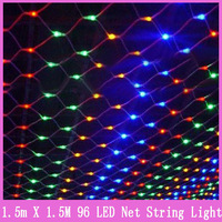1x String Christmas light 96 Leds decoration 8 flash modes 220V 1.5x1.5m super bright net New year wedding lamp ceremony EU Plug