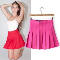 Women AA Brand High Waist Nifty Pleated Tennis Skirts Ladies'MINI Skirts Summer Spring Autumn Casual Skirts