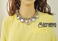 2014 NEW HOT Office Lady  statement necklace Big Brand ZA Choker Necklace gorgeous Necklace  Fashion Jewelry  for women