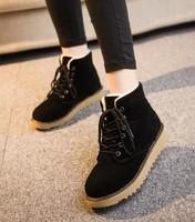 2014 Flat heel women winter shoes new fashion casual cute Korean Cow Muscle sole warm woman snow boots women's boots Free ship