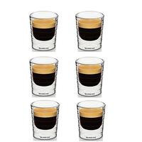 Set of 6 double wall hand-blown glass Nespresso Citiz glass Espresso capsule Thermo Glass 85ml free shipping
