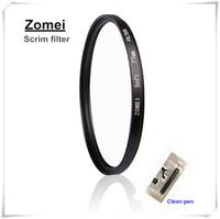 Free Shipping Pro Zomei 58mm Scrim Filter Diffusion Filters Lens Lambency Mirror Filtro + Clean Pen for Canon Nikon Camera