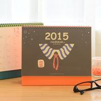 New 2015 Korean stationery red scarf desktop calendar  17771   0.33kg