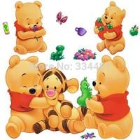 TC989 Removable Wall Stickers Winnie The Pooh And Tigger Cartoon Fashion Decoration Sticker Decorative Stickers