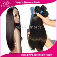 Ali POP Hair brazilian virgin hair straight 3pcs/4pcs brazilian virgin hair cheap high quality thick human hair weave straight