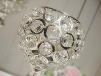 4PCS Total K9 Crystal  Wedding Centerpiece Candle Holder