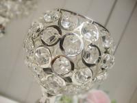 4PCS Total K9 Crystal  Wedding Centerpiece Candle Holder