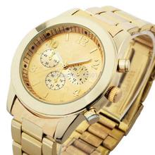 1pcs Women Girl Unisex Exquisite Charm Fashion Stainless Steel Quartz Wrist Watch Hot