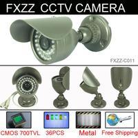 Free Shipping CCTV Camera 700TVL Security Camera CMOS 960H 36pcs IR leds Day night waterproof indoor Outdoor With bracket