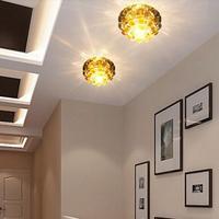 modern home crystal chandelier lampshade led hallway lights 3W spotlights led lamp light fixtures AC85-265V abajur