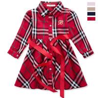 Plaid Dress Kids Wear Clothes Fit 2-6yrs Childrens Variety Of Color 100cotton For Girls Plaid Infantil Fashion Resale Dress 951