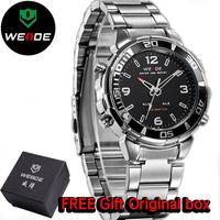 WEIDE Luxury Brand Men Stainless Steel Watches Japan Movement Quartz Analog Casual Sports Wristwatch 30M Waterproof Men's Watch