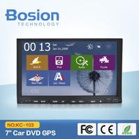 7 inch 2 din slide down car dvd with GPS Navigation Car DVD  2DIN Car Stereo Radio Car GPS Bluetooth USB/SD Universal  Player