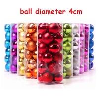 Christmas tree decorations ball 24pcs 4cm light balls Christmas balls plated plastic ball P-050 free shipping
