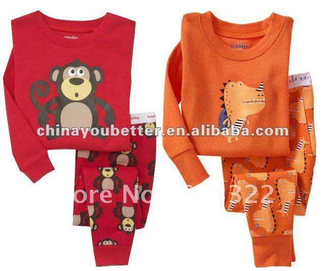 100%cotton Long-sleeve Baby Pajamas sleepwear,baby underwear(China (Mainland))