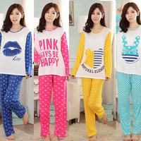 11 Colors Plus Size 100% Cotton Casual Sleepwaer Winter Pijama Pyjamas Suit Women Feminino Inverno Sleepwear Homewear Pajama Set