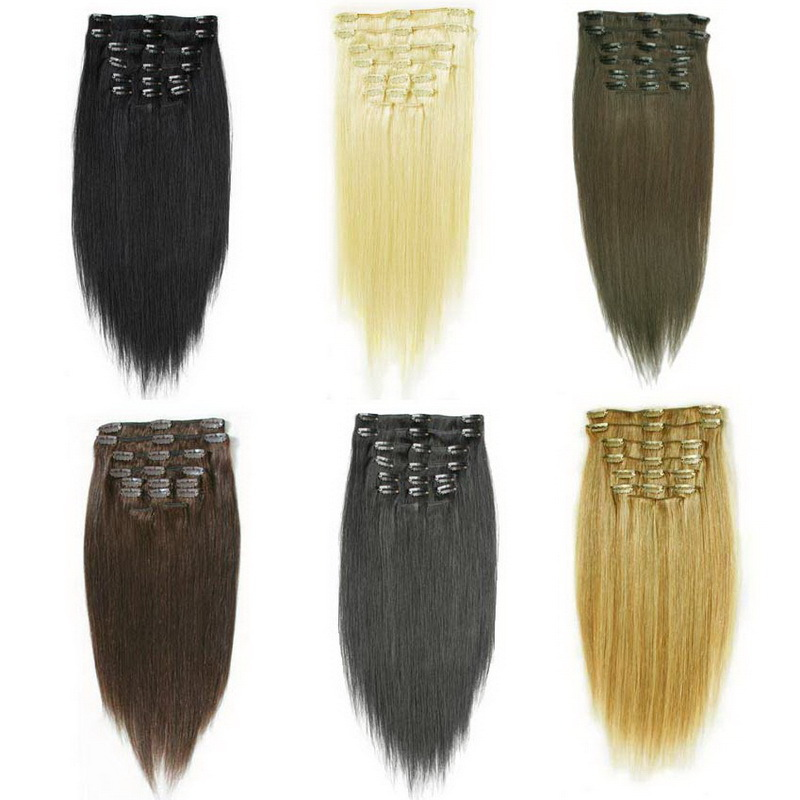 Cheap Light Brown Clip In Hair Extensions 114