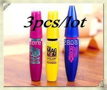 3pcs/lot express colossal mascara de volume real eles são maquiagem curling mascara cílios maquiagem marca impermeável(China (Mainland))