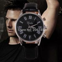 New Fashion Quartz Men Watch Roman Dial Business Elegant Male Sport Wristwatch Black Leather Strap Watch relogio masculino