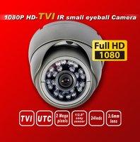 Free shipping HD TVI 1080P1/2.8''Sony Exmor Sensor security camera TVI camera 24IR 3Mega 3.6MM UTC HD-TVI dome cctv camera gray