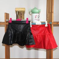 wholesale(5pcs/lot)-2015 autumn winter leather skirt for child girl
