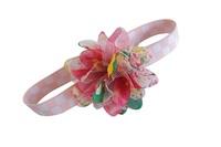 elastic  multi 3 flower cluster baby headband