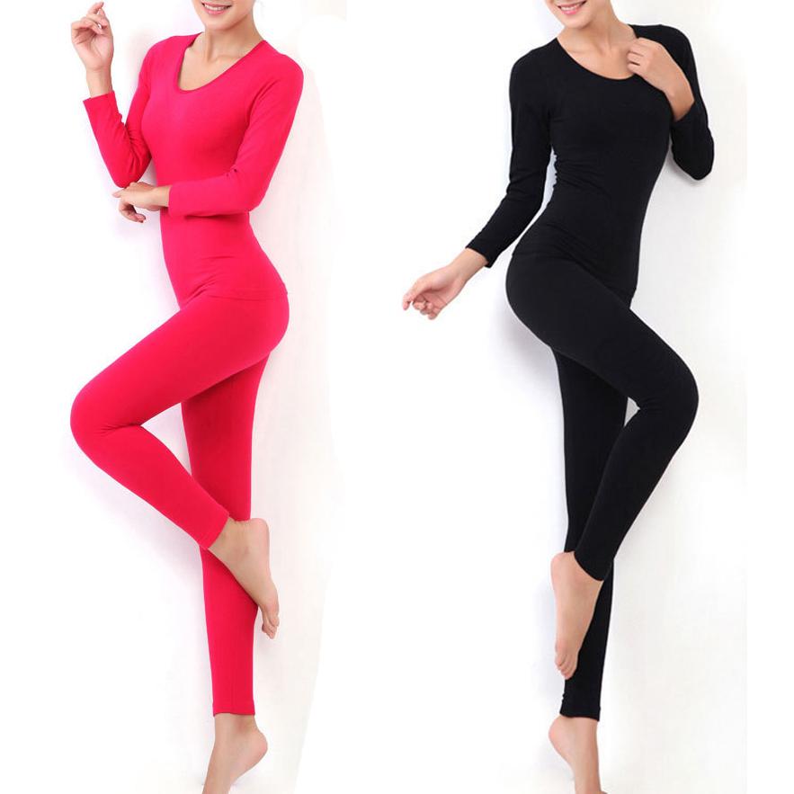 Thermal Underwear Women 2014 Hot Sale Winter Antibiosis Warm Long Johns Underwears Top + Pant Sexy Slim Comfortable NBT048(China (Mainland))