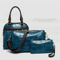 2014 New Alligator Women Handbag Fashion Lash Package Large Space Multifunction Handbag Panelled Messenger Bag Fashion Tote