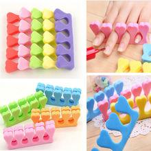10x Soft Sponge Foam Finger Toe Separator Nail Art Salon Pedicure Manicure Nail Tools NA272(China (Mainland))