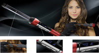 Fast Shipping T/Studio Silk Magic Hair Curler Remington Curling Wand Ceramic Barrel Curling Cone 1/2'' to 1'' Curling Iron Glove