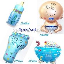 Hot 4pcs/set air baloon baby boy balloon foil 4 kinds ballons for baby birthday party decoration baloes de festa mylar bola (China (Mainland))