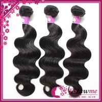 Mongolian 100% virgin hair body wave 1 or 2 bundles lot 1b black human hair weft Top grade unprocessed Forawme hair extensions
