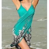 Hot sale beach tunic Fashion Summer Dress women Beachwear pareos beach sarongs Sexy Stylish Cross Front beach cover up