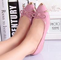New Brand 2015 Ladies Flats Shoes Alpargata Women Shose Zapatos Mujer Pu Leather Mocassin Sapatos Bowtie Femininos Casual Shoe